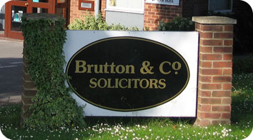 Brutton & Co Office Sign